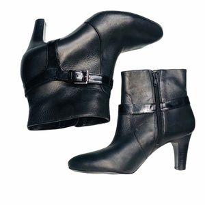 Ralph Lauren Sadie Women's Black Ankle Heel Bootie